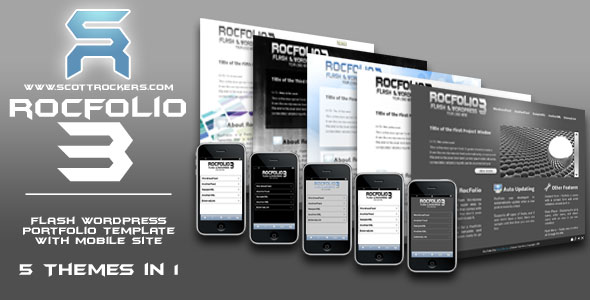 RocFolio 3 Flash and WordPress Integrated Portfolio Template